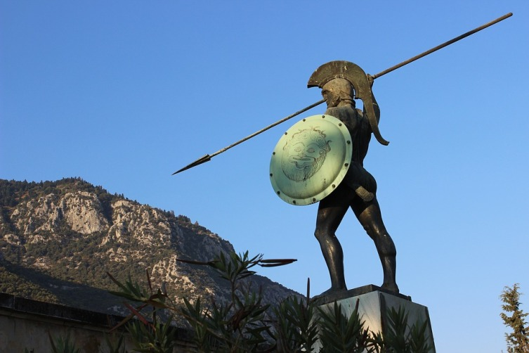 Памятник Леониду в Фермопильском ущелье, Греция