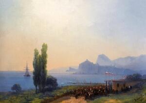 И. К. Айвазовский. Спокойное море ранним вечером