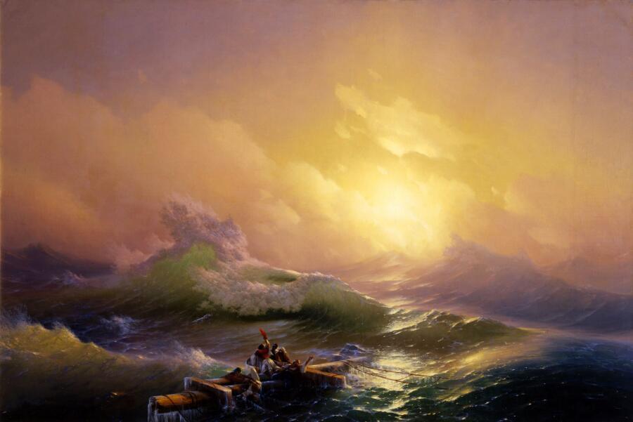 Иван Константинович Айвазовский,<br /> «Девятый вал», 1850 г.