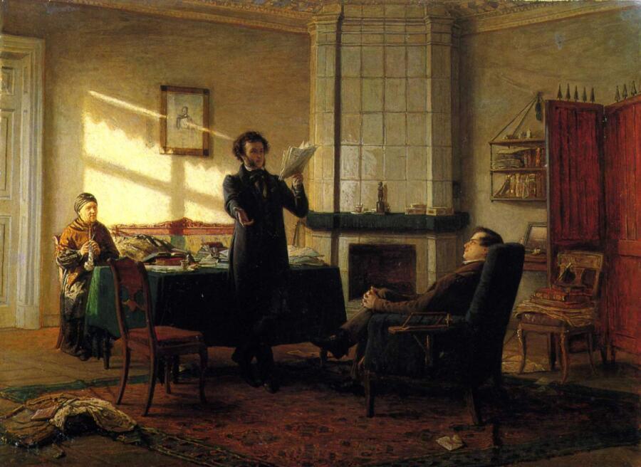 Николай Николаевич Ге,<br /> «Александр Сергеевич Пушкин в селе Михайловском», <br /> 1875 г.