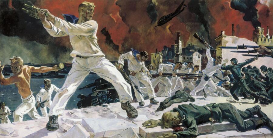 А. А. Дейнека, «Оборона Севастополя», 1942 г.