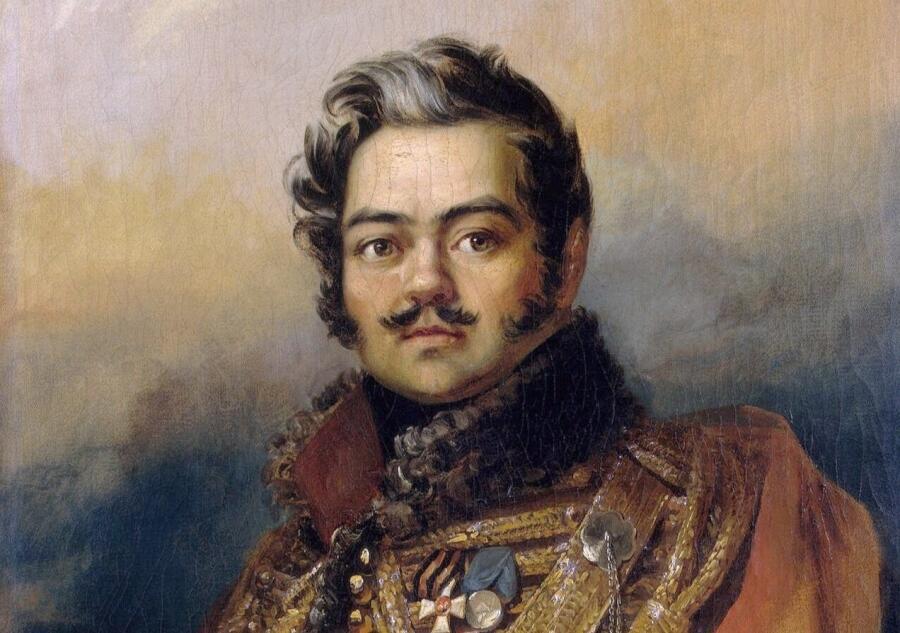Джордж Доу, «Портрет Дениса Васильевича Давыдова» (фрагмент), 1828 г.