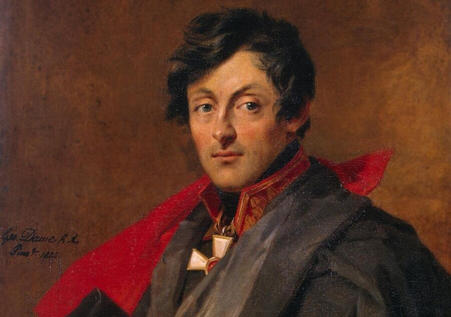Джордж Доу, «Портрет графа А. И. Остермана-Толстого» (фрагмент), 1825 г.