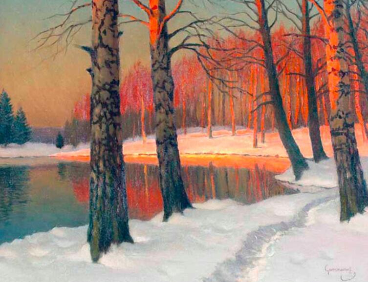 «Зимний закат», М. Гермашев