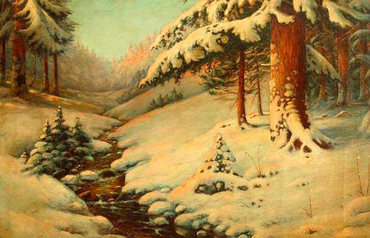 «Зимний пейзаж», М. Гермашев