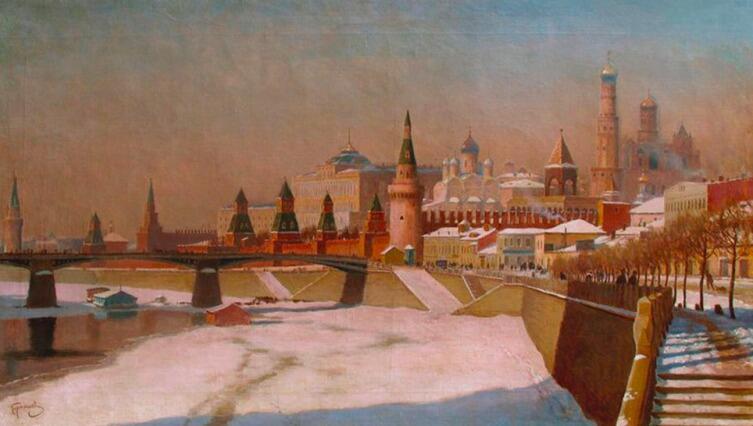 «Вид на Московский Кремль», М. Гермашев