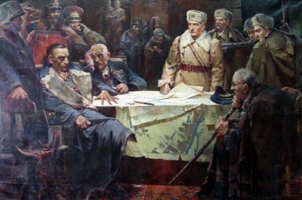 В. А. Любчик, «Финал Сталинградской битвы. Капитуляция Паулюса», 1951 г.