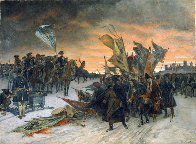 Густав Седерстрём, «Победа шведов в битве при Нарве», 1910 г.