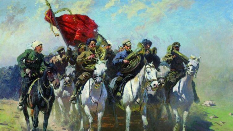 Митрофан Греков, <br /> &laquo;Трубачи Первой Конной армии&raquo;, 1934 г.