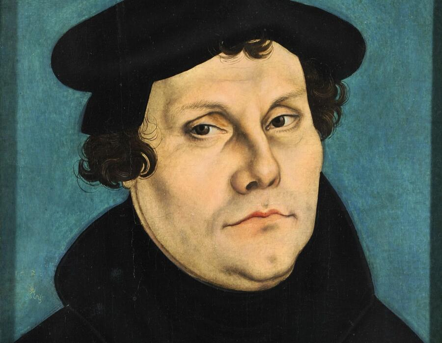 Лукас Кранах Старший, «Мартин Лютер» (фрагмент), 1528 г.