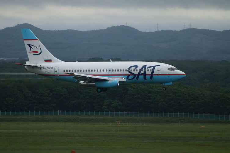 Boeing 737-200 авиакомпании «Сахалинские Авиатрассы»