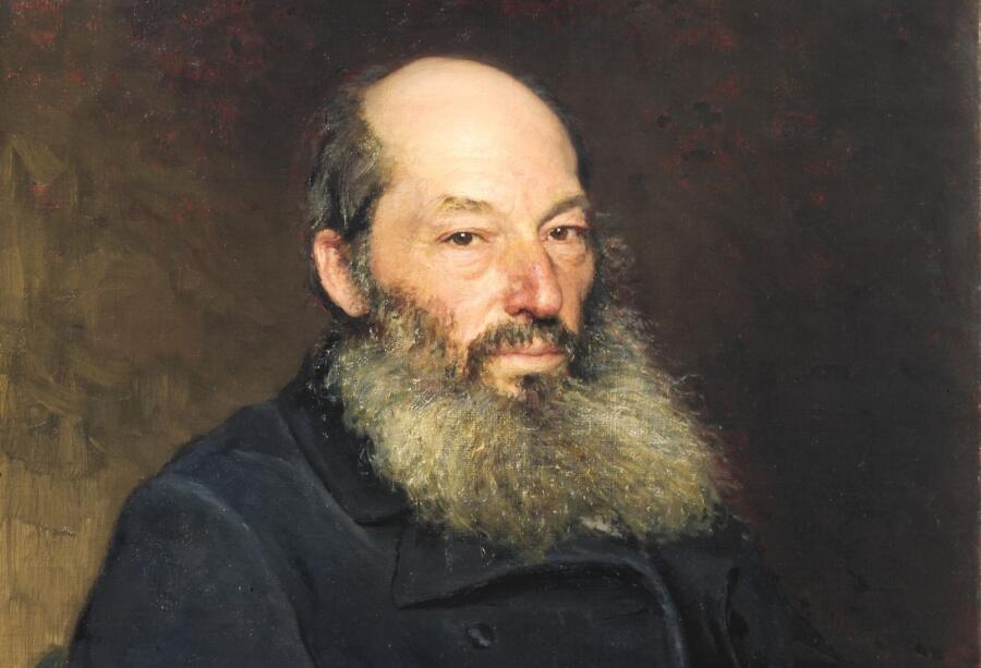 Илья Репин, «Афанасий Фет» (фрагмент), 1882 г.