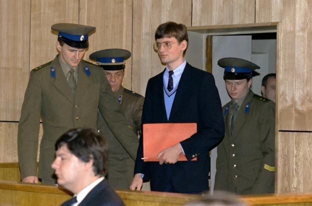 Матиас Руст во время суда, сентябрь 1987 года