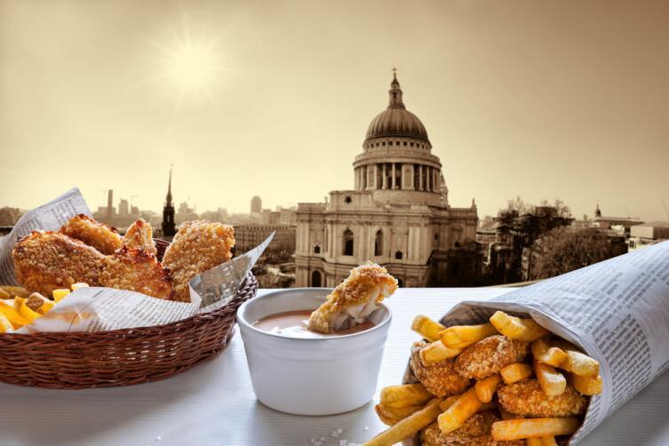 Вид на собор Святого Паулса в Лондоне