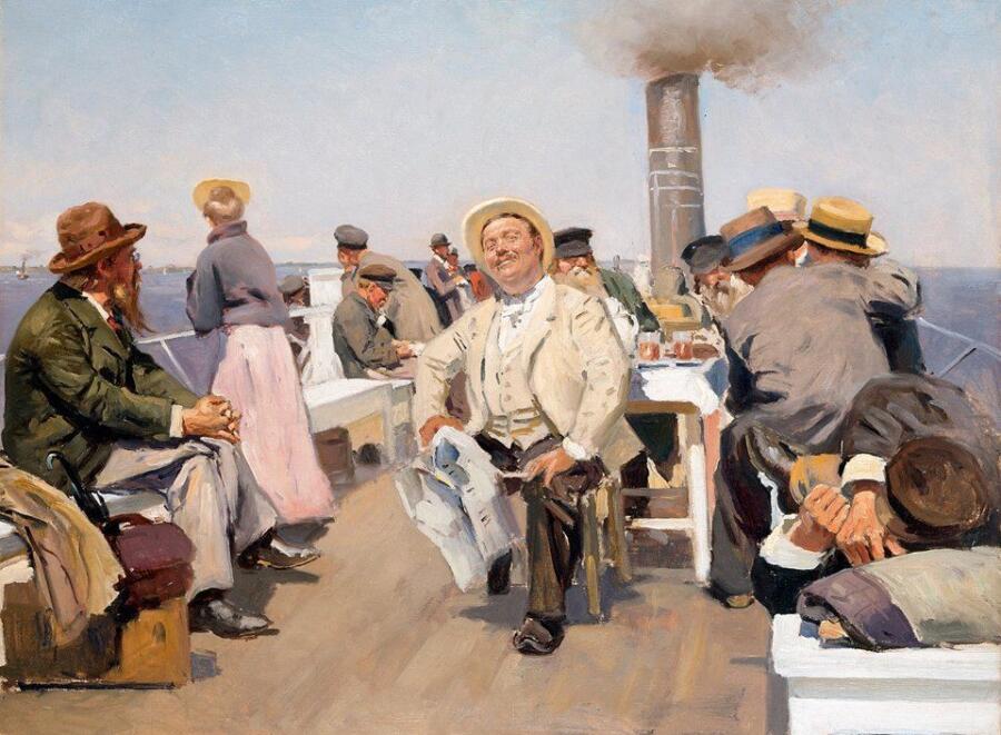 В. Е. Маковский, «На пароходе», 1902 г.
