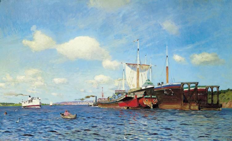 И. И. Левитан, «Свежий ветер. Волга», 1895 г.