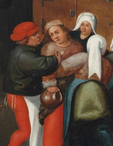Молодая жена, фрагмент картины