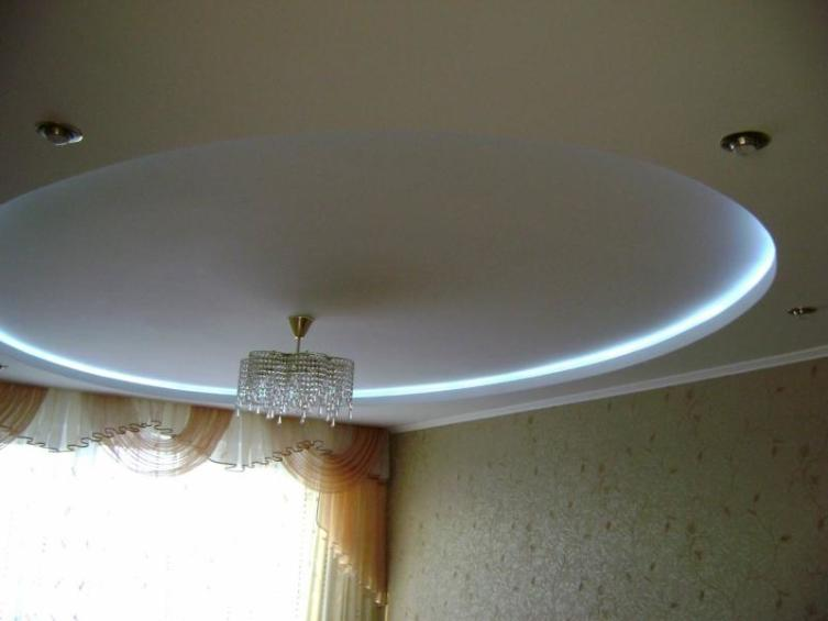 Как сделать круглый потолок с внутренней подсветкой?