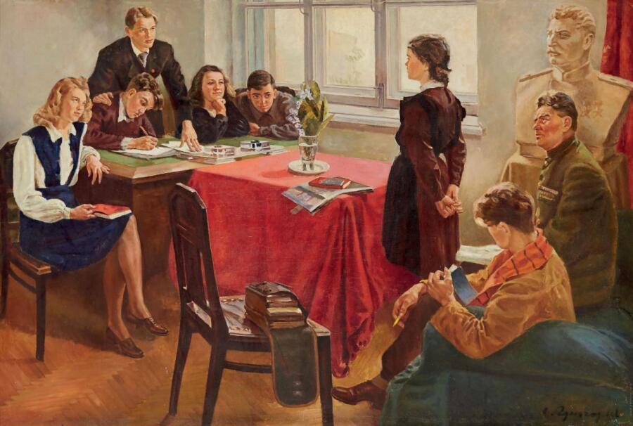 С. А. Григорьев, «Прием в комсомол», 1949 г.