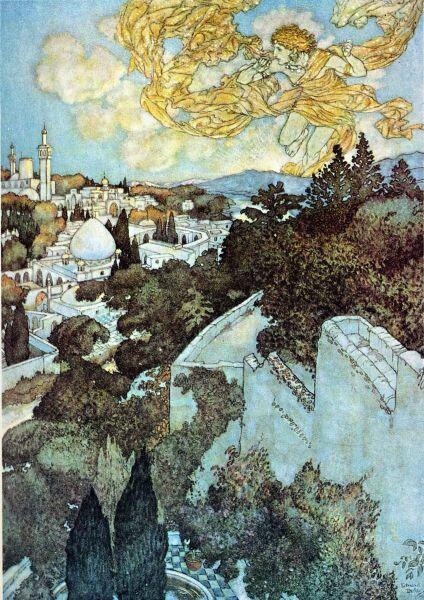 Эдмунд Дюлак, «Иллюстрация к рубаи Омара Хайяма»