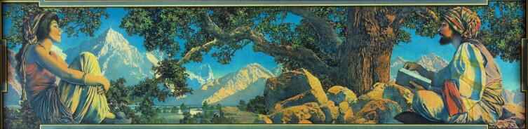 Максфилд Пэрриш, «Рубаи. Иллюстрация», 1900 г.