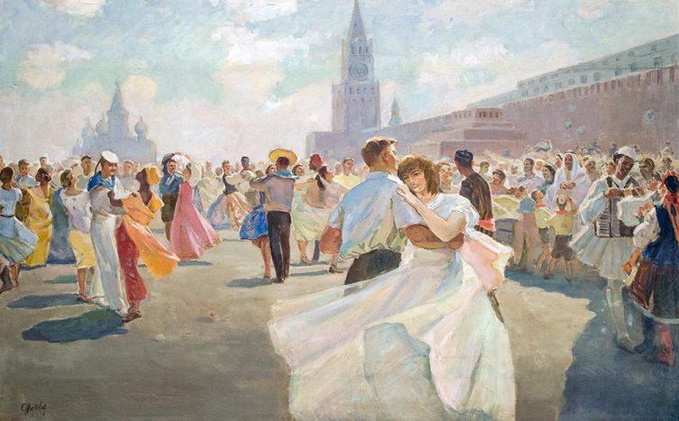 С. М. Низовая-Шаблыкина, «Фестиваль молодежи и студентов на Красной площади», 1957 г.