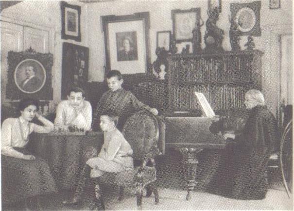 Семья М. Н. Тухачевского, 1904 год