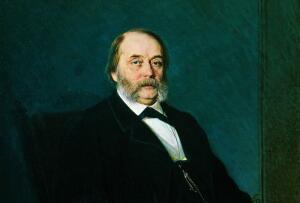 Портрет писателя Ивана Александровича Гончарова. Крамской И.Н. 1874
