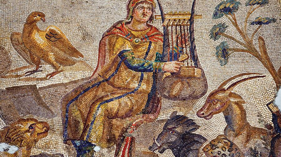 Мозаика «Орфей, зачаровывающий пением диких зверей»
