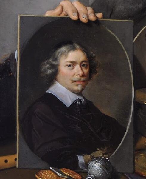 Автопортрет во время написания картины