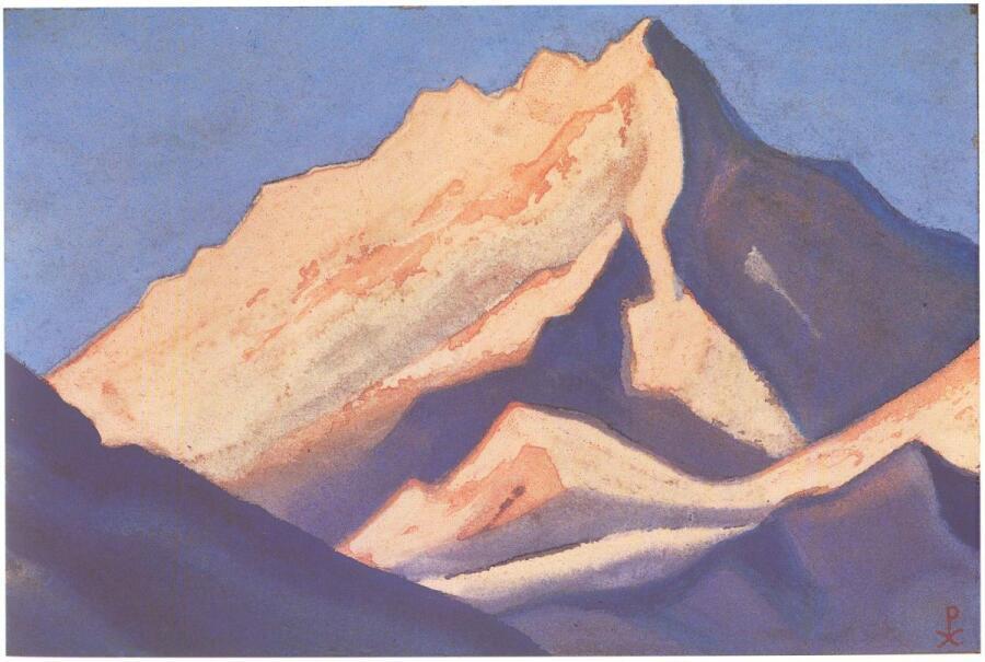 Н. К. Рерих, «Гималаи (Снежный массив на закате)», 1942 г.