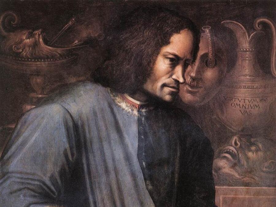 Джорджо Вазари, «Портрет Лоренцо Медичи Великолепного» (фрагмент), 1530-е гг.