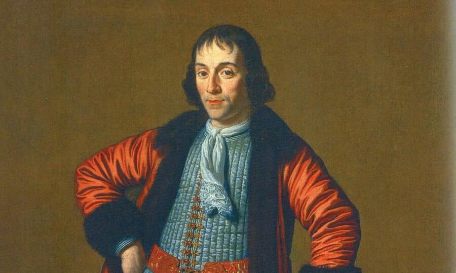 М. ван Мюссхер, «Портрет А. Меншикова, написанный в Голландии во время Великого посольства» (фрагмент), 1698 г.