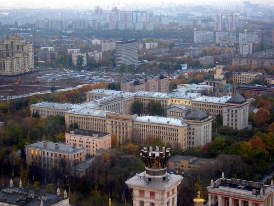 С 1967 г. Е. Н. Кондратьева была профессором биолого-почвенного факультета Московского университета (на фото)
