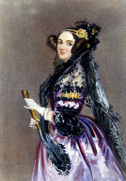 Графиня Ада Лавлейс, акварельный портрет