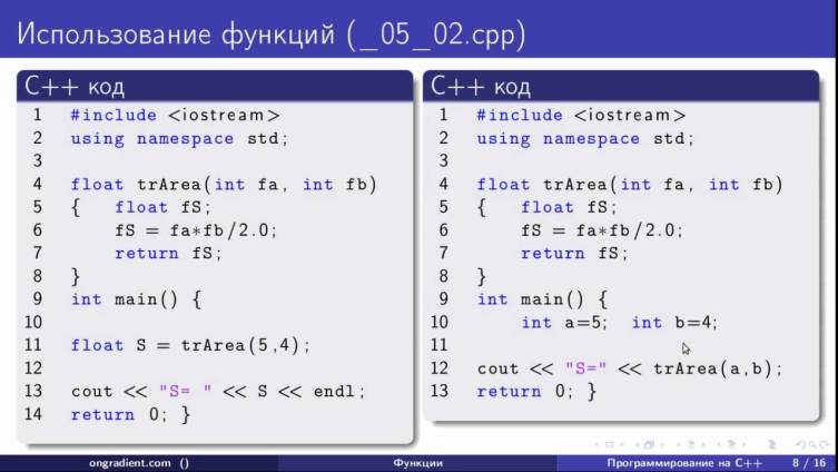 Код, написанный на языке С++
