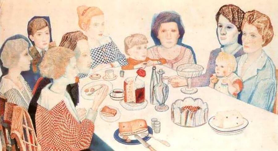 Павел Филонов, «Семейный портрет», 1924 г.