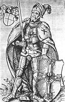 Ульрих фон Юнгинген. Рисунок К. Хартноча из работы  «Altes und Neues Preussen», 1684 г.