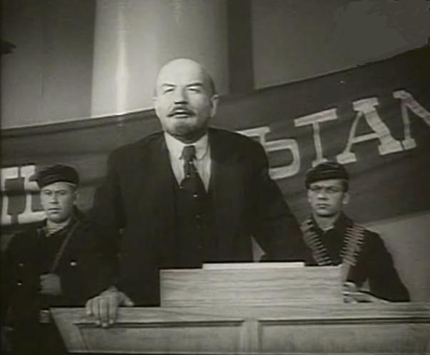 Борис Щукин в роли Ленина, фильм «Ленин в Октябре»