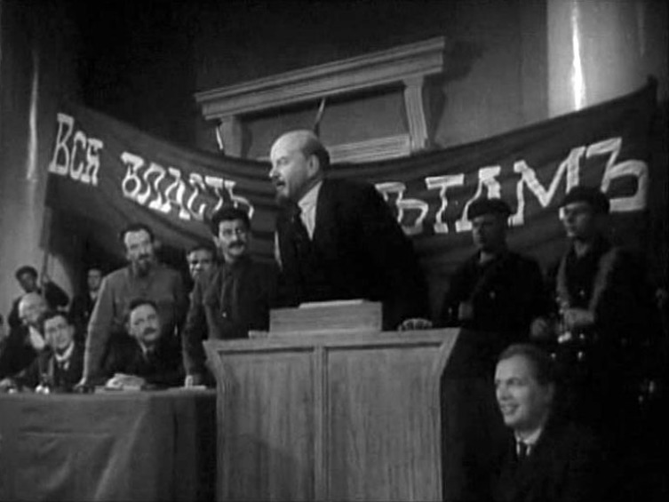 Финальная сцена первоначальной версии фильма (со Сталиным)
