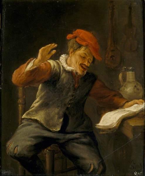 Ян Стен, «Чувство слуха. Певец», 1661 г.