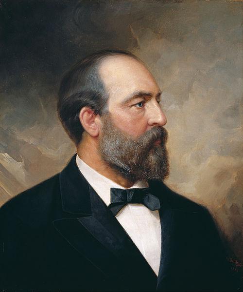 Джеймс Гарфилд на портрете работы Оле Баллинга