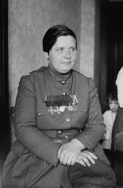 М. Л. Бочкарёва на приёме у В. Вильсона, США, 1918 г.