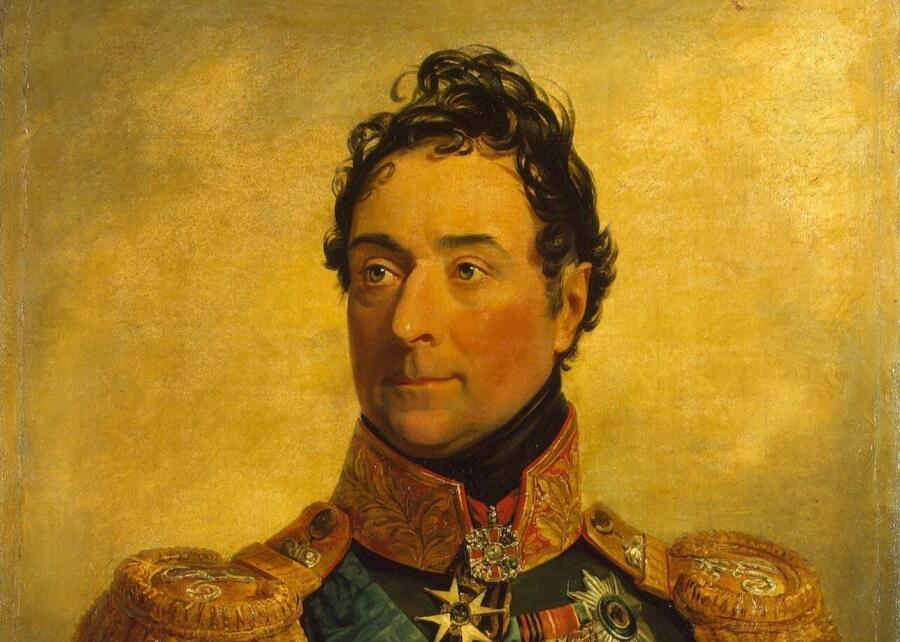 Джордж Доу, «Портрет А. Ф. Ланжерона» (фрагмент), 1825 г.