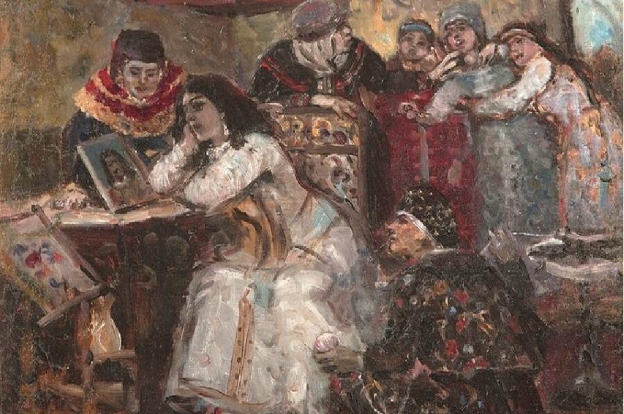 В. Суриков, «Царевна Ксения Годунова у портрета умершего жениха-королевича», 1881 г.