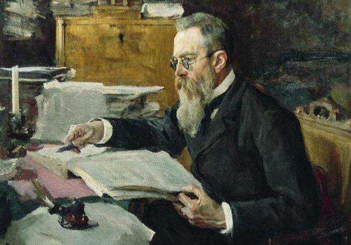 В. А. Серов, «Николай Андреевич Римский-Корсаков», 1898 г.