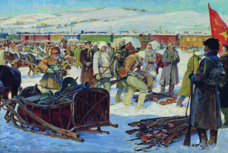 М. И. Авилов, «Разоружение частей Колчаковской армии», 1926 г.