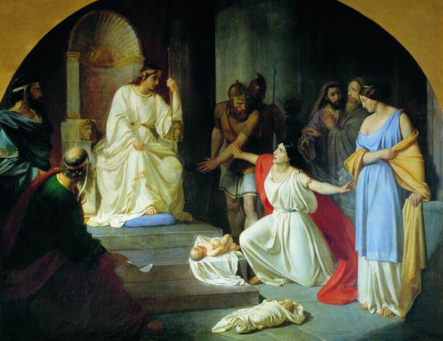 Н. Н. Ге, «Суд царя Соломона», 1854 г.