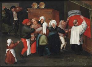 Как Мартен ван Клеве изобразил обряд «Благословение супружеского ложа»?
