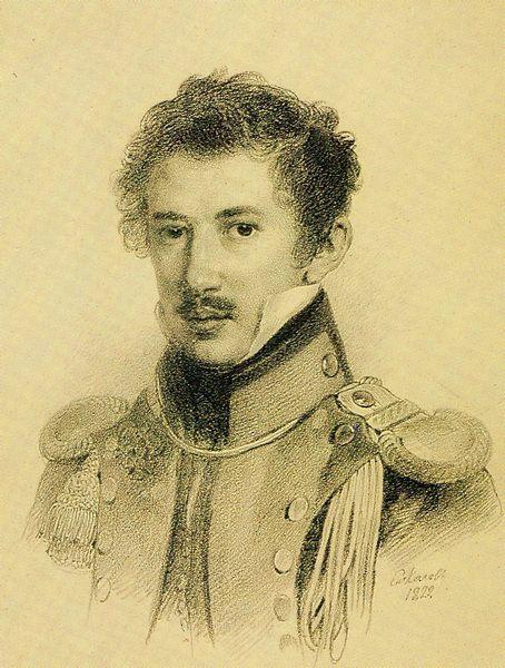 П. Ф. Соколов, «Михаил Сергеевич Лунин», 1822г.